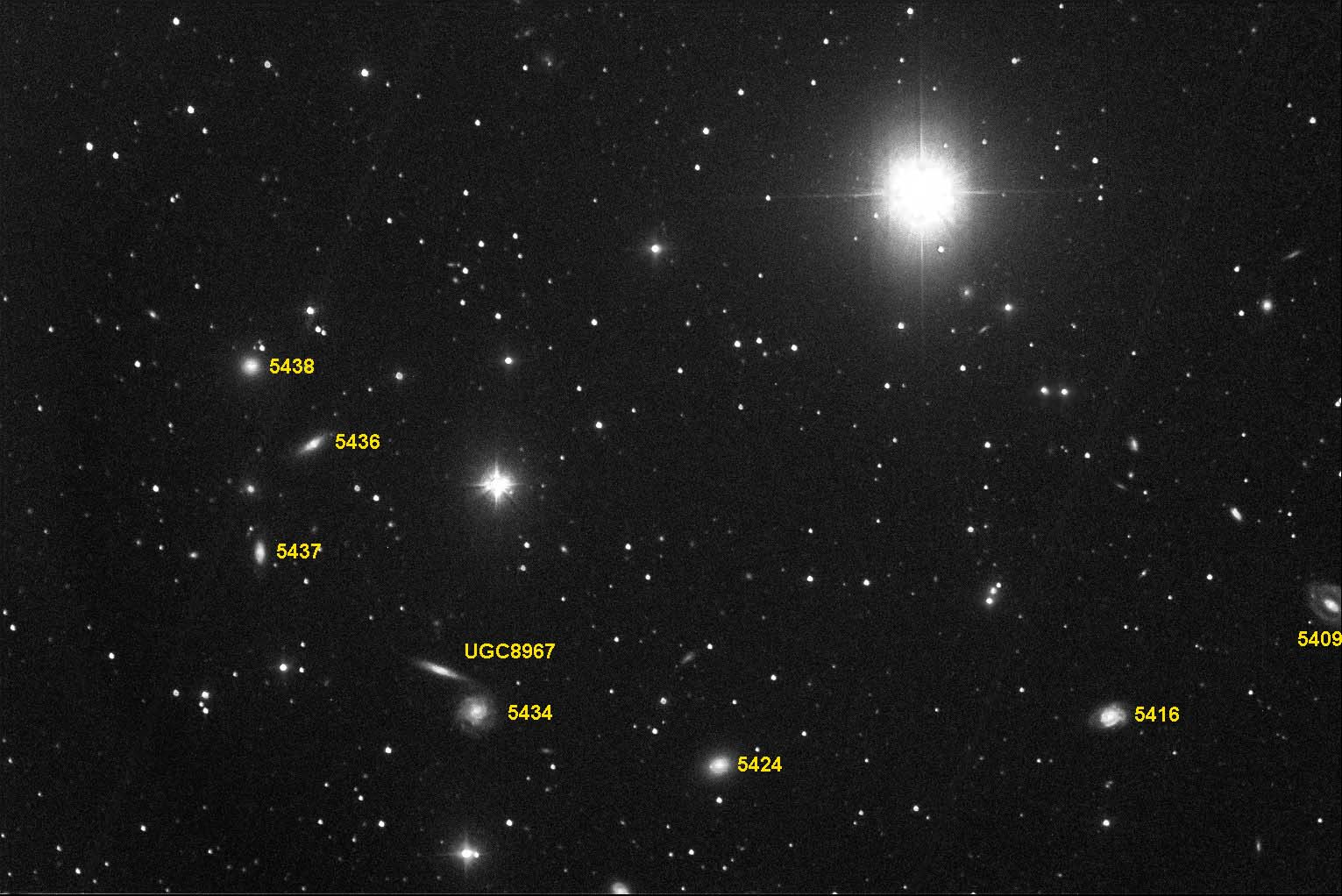 NGC 5434 group finder chart
